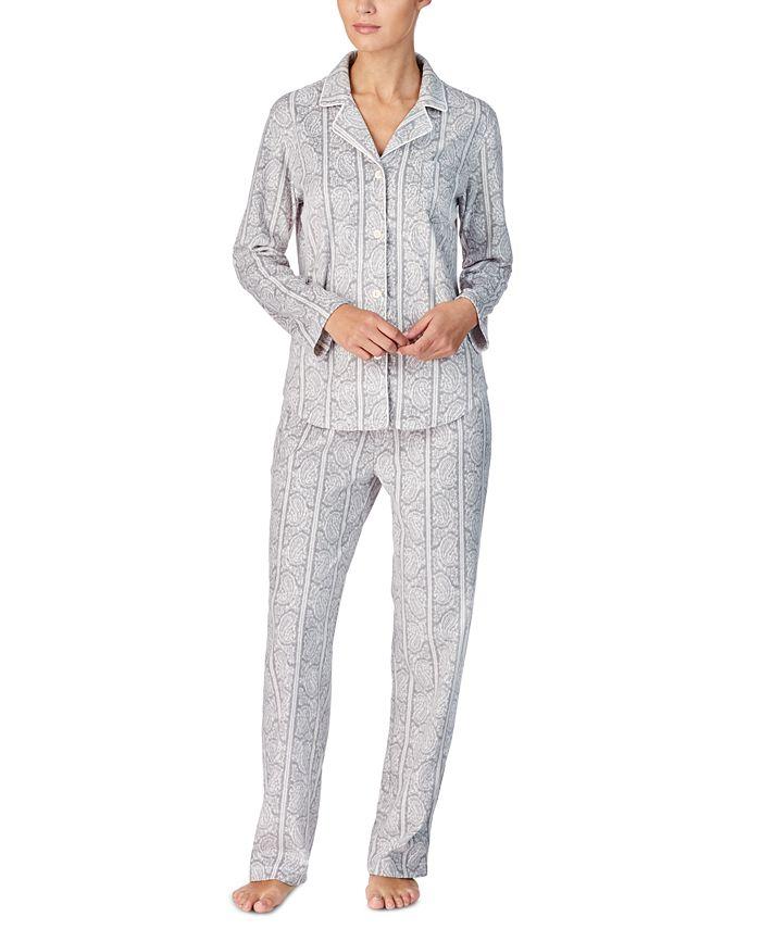 Lauren Ralph Lauren - Printed Fleece Pajama Set
