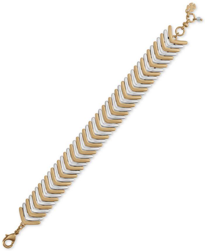 Lucky Brand Two-Tone Arrow Link Bracelet & Reviews - Bracelets - Jewelry & Watches - Macy's