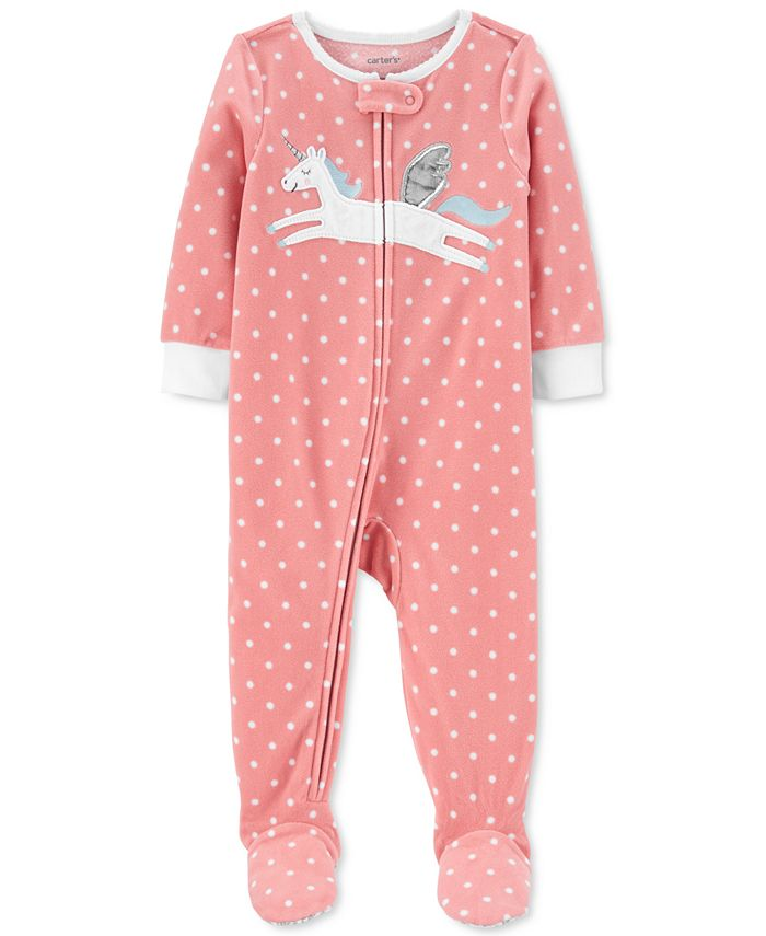 Carter's - Baby Girls Unicorn Fleece Pajamas