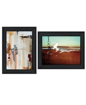 Abstract Flight 2-Piece Vignette by Cloverfield Co, White Frame, 19