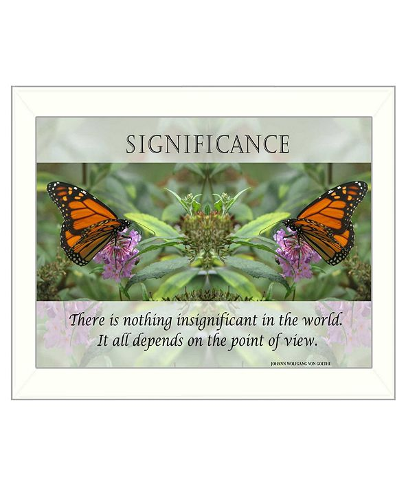 """Trendy Decor 4U Significance By Trendy Decor4U, Printed Wall Art, Ready to hang, White Frame, 14"""" x 18"""""""