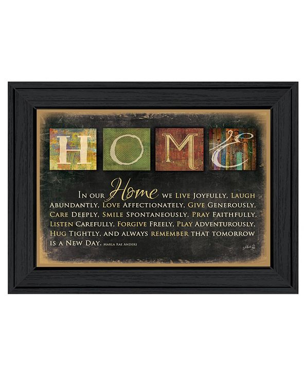 """Trendy Decor 4U In Our Home By Marla Rae, Printed Wall Art, Ready to hang, Black Frame, 14"""" x 10"""""""