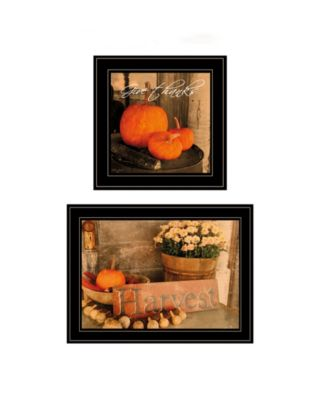 Autumn Harvest 2-Piece Vignette by Anthony Smith, White Frame, 15