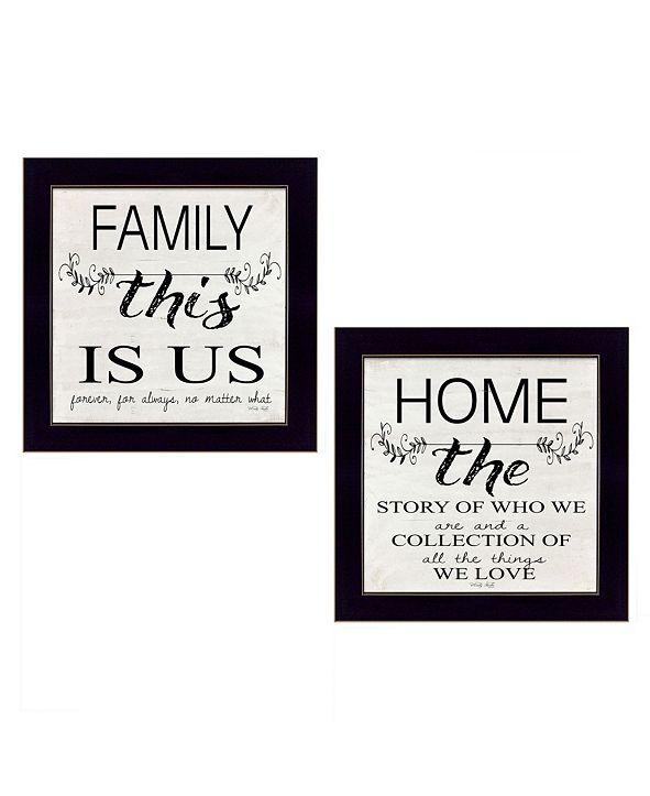"Trendy Decor 4U Family 2-Piece Vignette by Cindy Jacobs, Black Frame, 14"" x 14"""