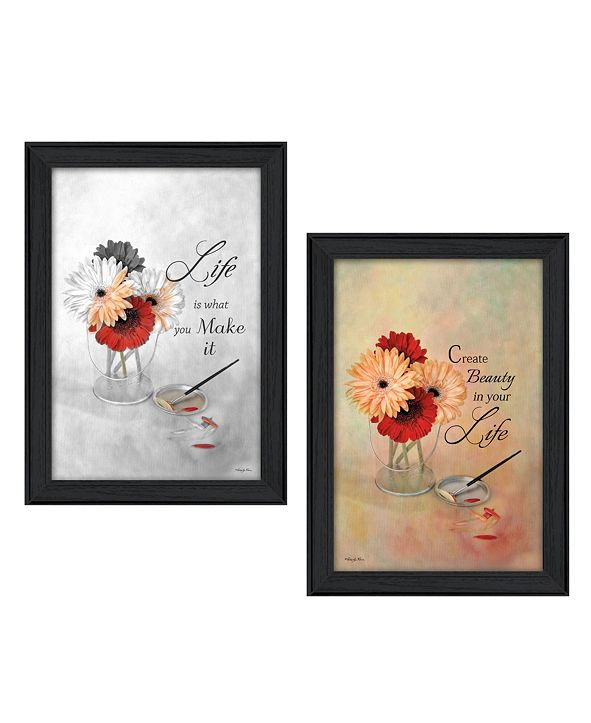 "Trendy Decor 4U Create Beauty Collection By Robin-Lee Vieira, Printed Wall Art, Ready to hang, Black Frame, 28"" x 20"""