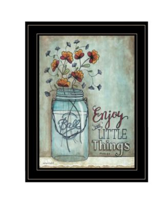 Enjoy the Little Things by Tonya Crawford, Ready to hang Framed print, White Frame, 15