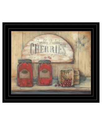 CHERRY JAM by Pam Britton, Ready to hang Framed Print, Black Frame, 17