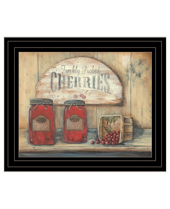 "Trendy Decor 4U CHERRY JAM by Pam Britton, Ready to hang Framed Print, Black Frame, 17"" x 14"""