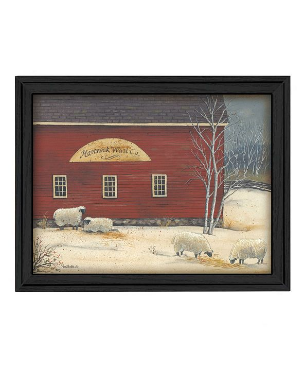 "Trendy Decor 4U Hartwick Wool Co By Pam Britton, Printed Wall Art, Ready to hang, Black Frame, 27"" x 21"""