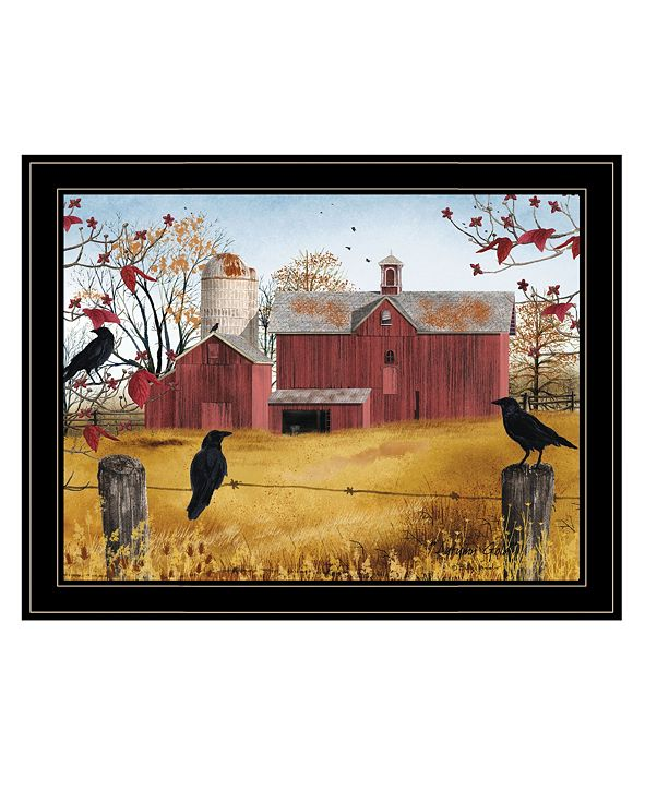 "Trendy Decor 4U Autumn Gold by Billy Jacobs, Ready to hang Framed Print, Black Frame, 27"" x 21"""
