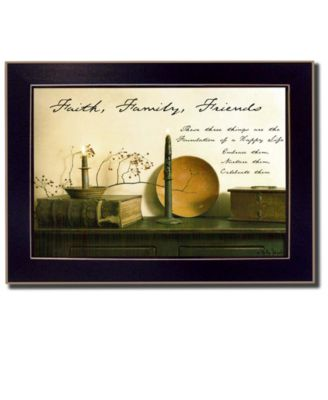 Faith, Family and Friends By Billy Jacobs, Printed Wall Art, Ready to hang, Black Frame, 14
