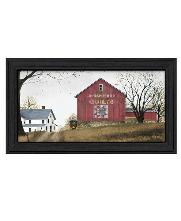 "Trendy Decor 4U The Quilt Barn By Billy Jacobs, Printed Wall Art, Ready to hang, Black Frame, 21"" x 12"""