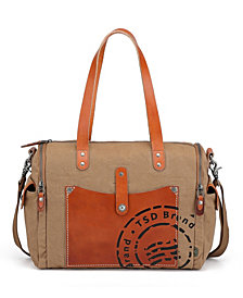 TSD BRAND Super Horse Canvas Satchel Bag