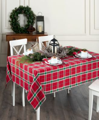 Home For the Holidays Plaid Tablecloth - 60