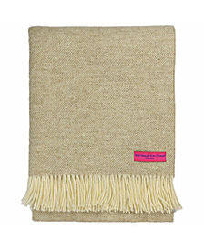 Southampton Home Wool Herringbone Throw
