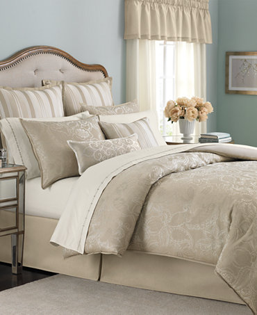 Martha Stewart Collection Gated Garden 24 Piece Queen Comforter Set Bed In