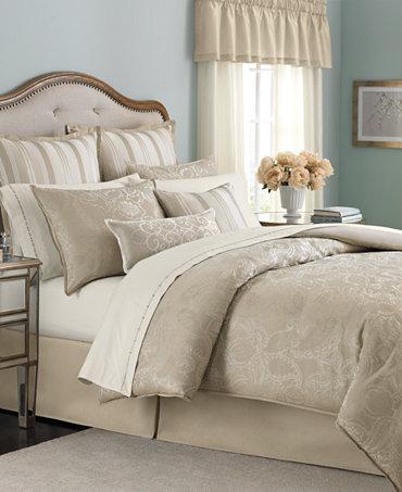 Martha Stewart Collection Gated Garden 24 Piece Queen Comforter Set Bed In