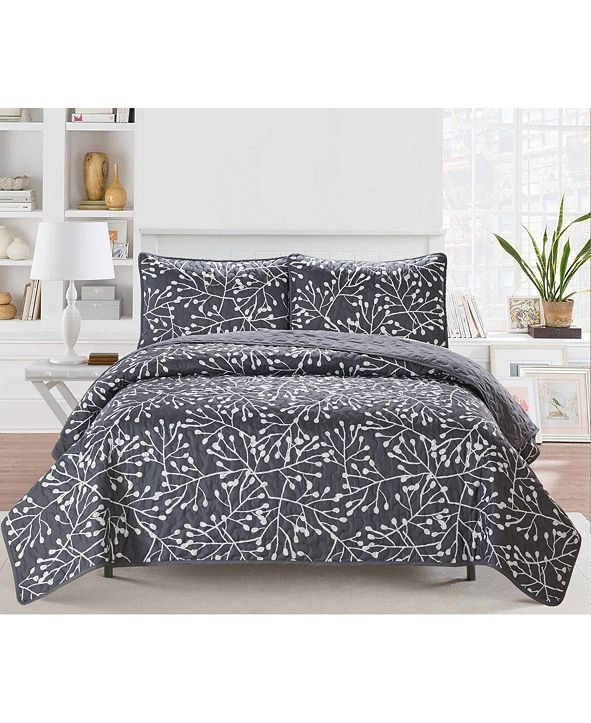 Causual Living Casual Living Branches 3 Piece Quilt Set, King