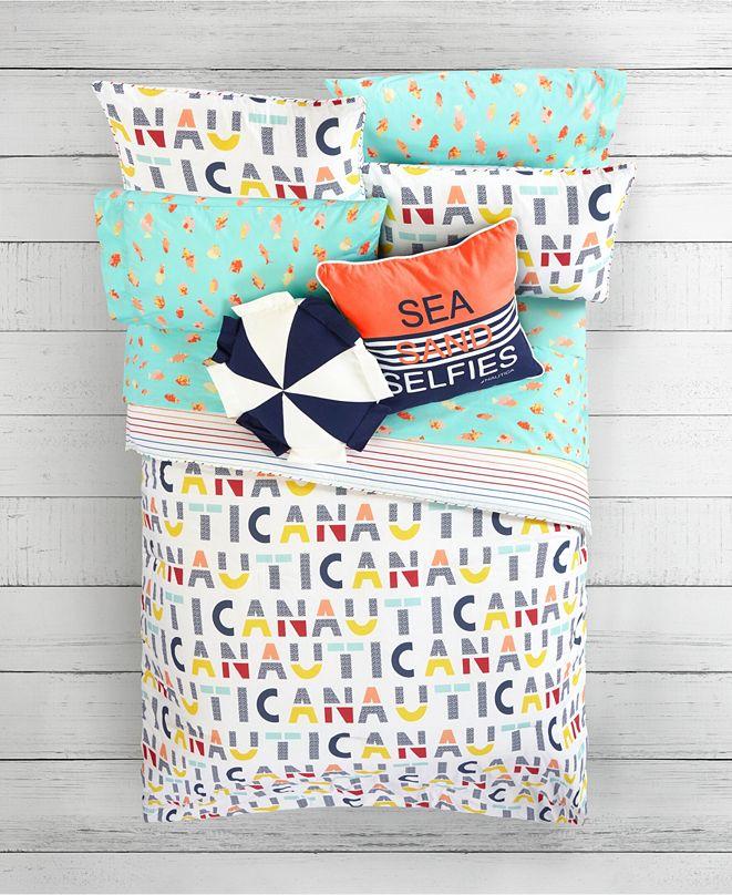 Nautica Kids Letters Print Comforter Sets