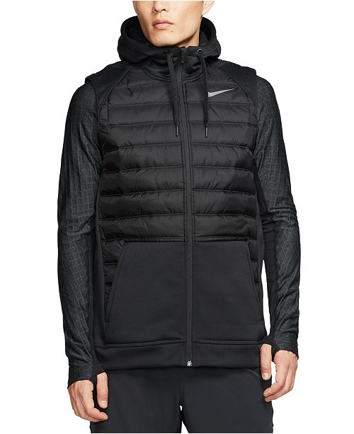 Nike Men's Therma Zip Training Hoodie Vest & Reviews - Coats ...