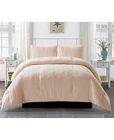 Lily & David Crease 3 Piece Comforter Set, Full/Queen