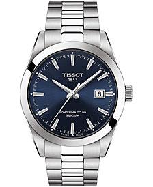 Tissot Men's Swiss Automatic T-Classic Gentleman Powermatic 80 Silicium Stainless Steel Bracelet Watch 40mm