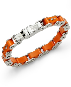IceLink - Stainless Steel Bracelet, Medium Orange Bicycle Bracelet