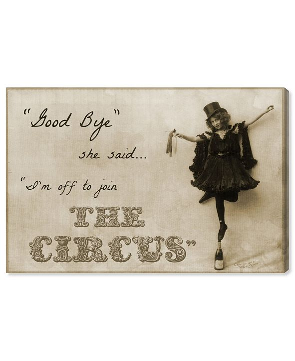 "Oliver Gal Join The Circus Canvas Art, 24"" x 16"""
