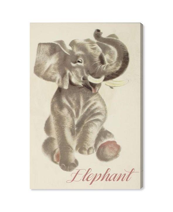 "Oliver Gal Elephant Canvas Art, 16"" x 24"""