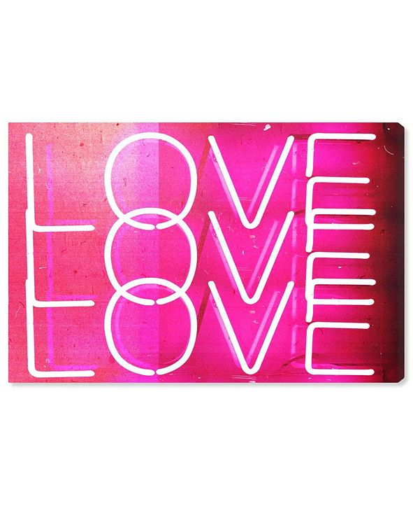 "Oliver Gal Love Neon Lights Canvas Art, 15"" x 10"""