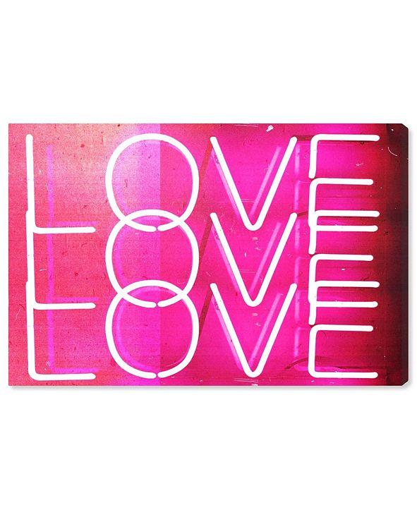 "Oliver Gal Love Neon Lights Canvas Art, 36"" x 24"""