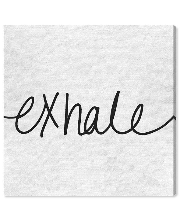"Oliver Gal Exhale Minimalist Canvas Art, 16"" x 16"""
