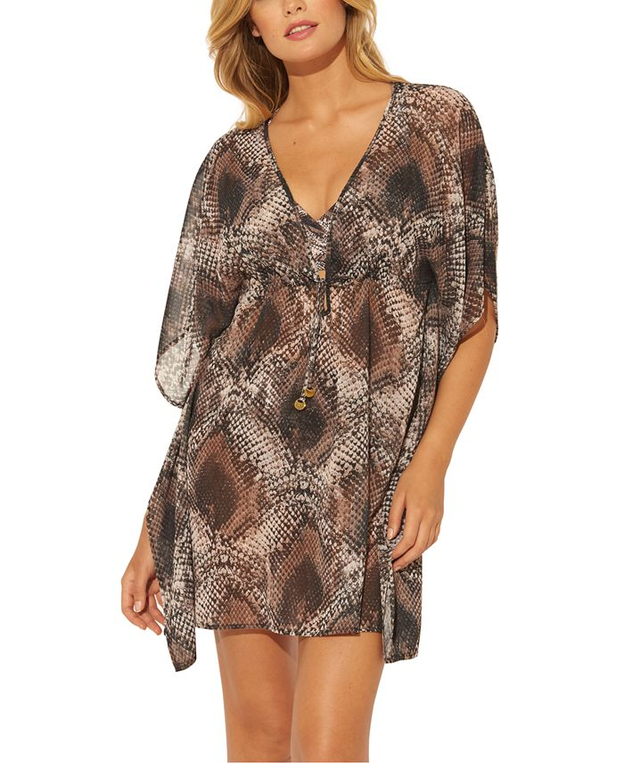 Bleu by Rod Beattie - Python Printed Caftan Cover-Up
