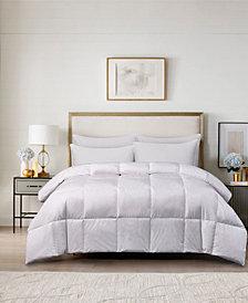 240 Thread Count Cotton White Goose Feather Down Medium Warmth Twin Comforter