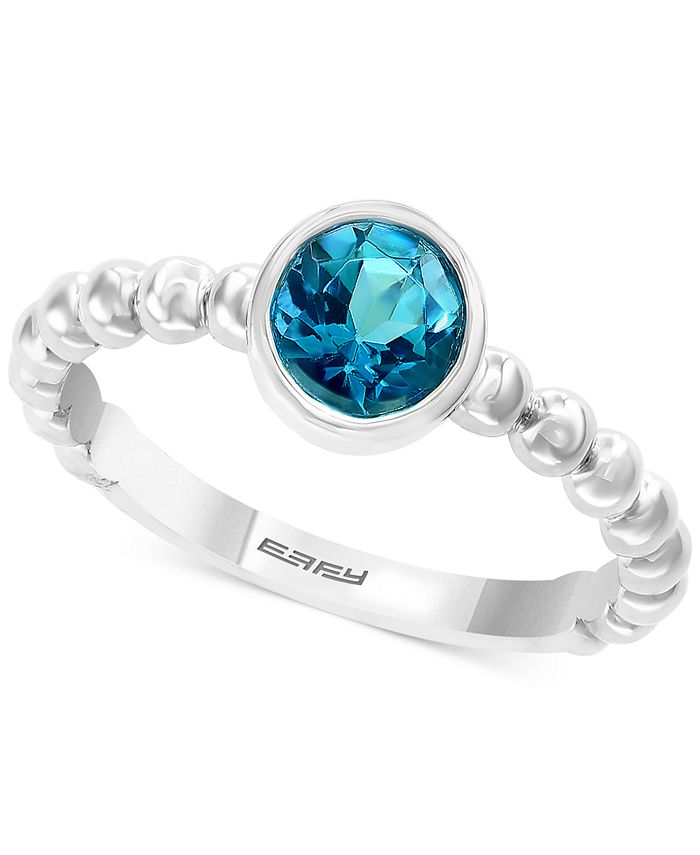 EFFY Collection - Blue Topaz Bezel Statement Ring (1-5/8 ct. t.w.) in Sterling Silver (Also in Citrine)