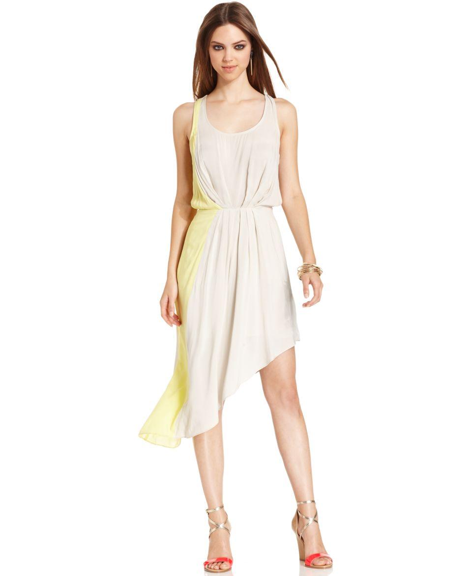 BCBGeneration Dress, Sleeveless Scoop Neck Colorblocked   Dresses   Women