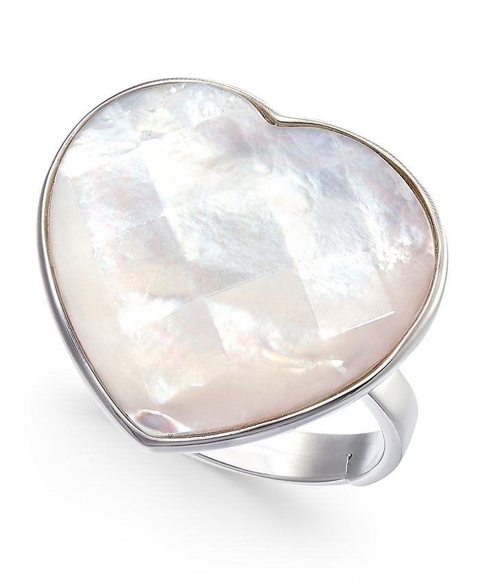 Macy's - Mother-of-Pearl Heart Ring in Sterling Silver