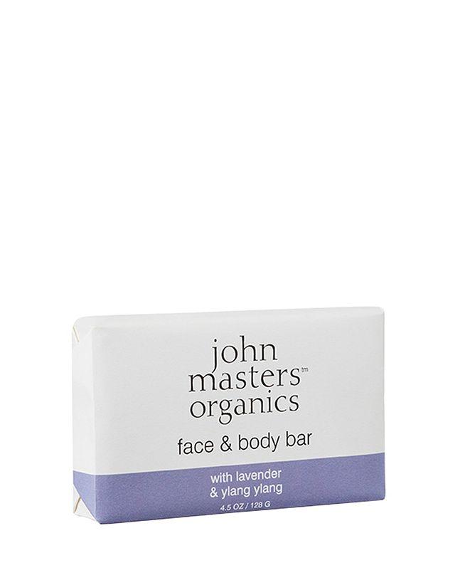 John Masters Organics Face Body Bar with Lavender Ylang Ylang- 4.5 fl. oz.