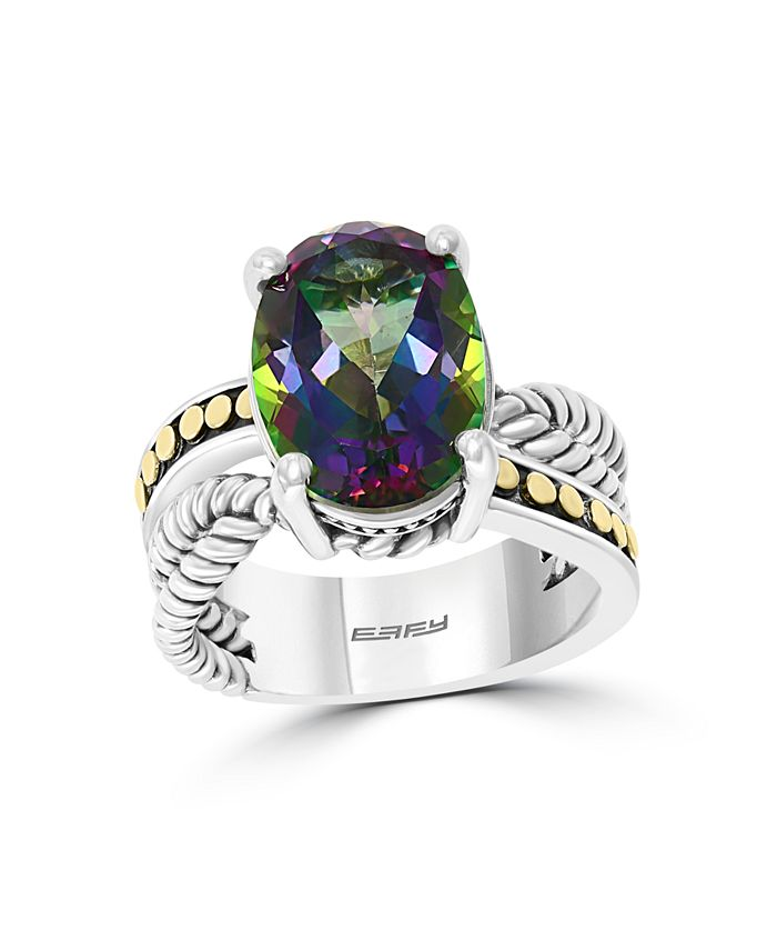 EFFY Collection - Mystic (9-7/8 ct. t.w) Ring in 18k Yellow Gold and Sterling Silver
