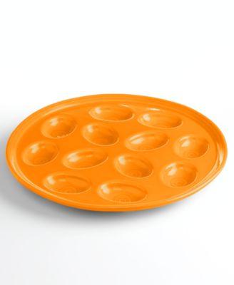 Fiesta Tangerine Egg Plate