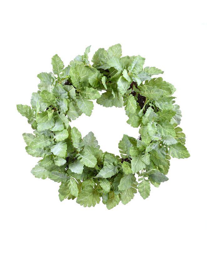 Winward Silks Permanent Botanicals Dusty Miller Leaf Wreath