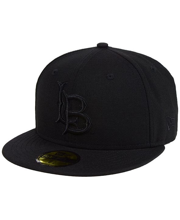 New Era Long Beach State 49ers Core Black on Black 59FIFTY Fitted Cap