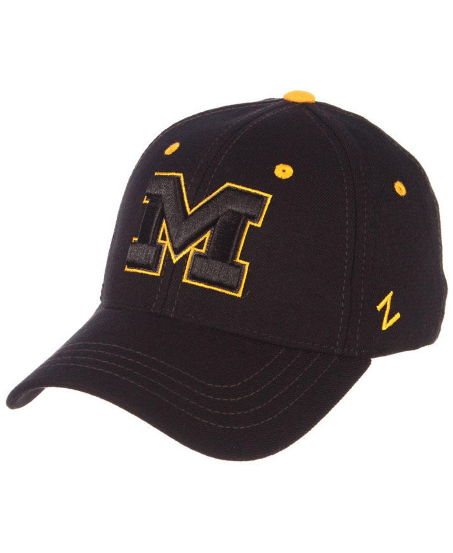 Zephyr Michigan Wolverines Black Element Stretch Fitted Cap & Reviews - Sports Fan Shop By Lids - Men - Macy's