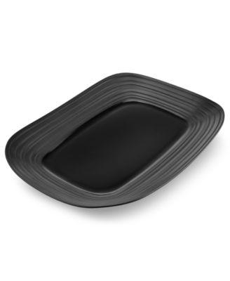 Mikasa Swirl Black Rectangular Platter
