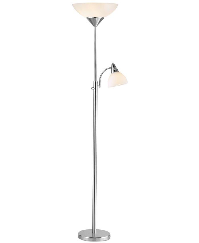 Adesso - Piedmont Steel Floor Lamp