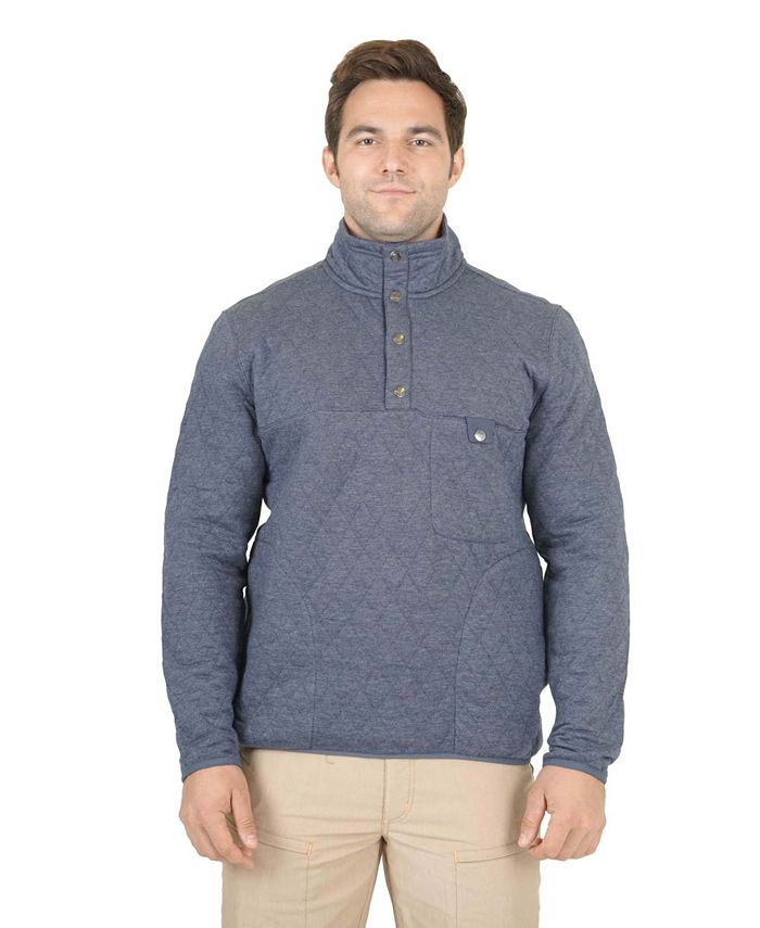 Mountain And Isles - Mountain and Isles Quilted Snap Mock Neck Pullover