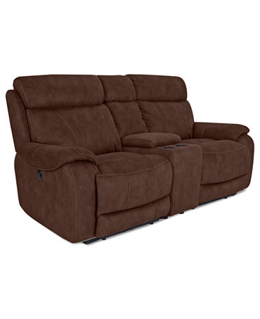 Kieran Fabric Reclining Loveseat Console Dual Power