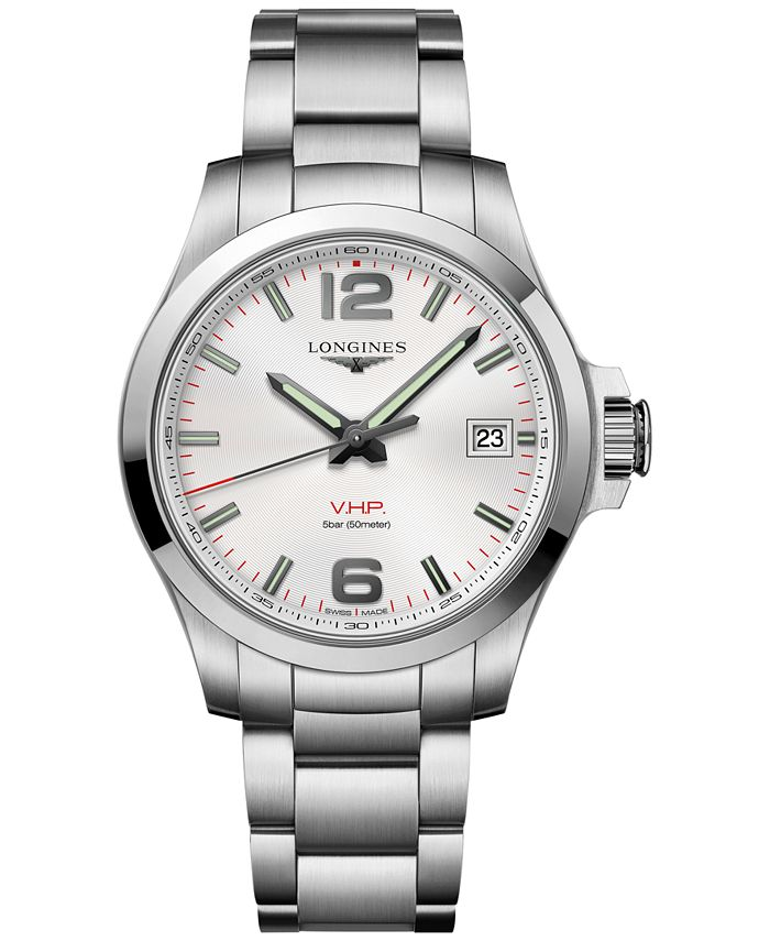 Longines - Men's Swiss Conquest VHP Stainless Steel Bracelet Watch 41mm