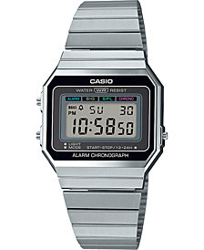 Casio Unisex Digital Stainless Steel Bracelet Watch 35.5mm