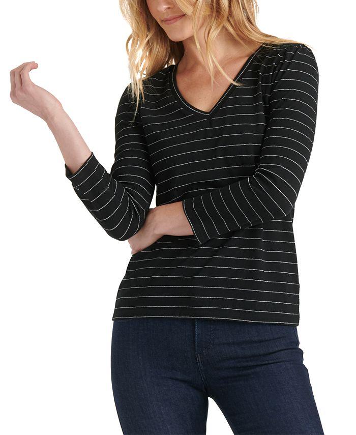 Lucky Brand - Cotton Puff-Sleeve T-Shirt